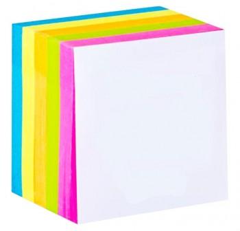 DEQUA Taco de notas encolado 10x10 cm 5 colores