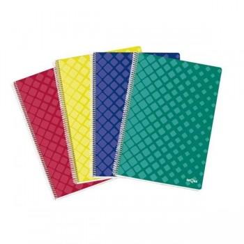Dequa Cuaderno tapa dura Dequa 80h 90g cuadrícula 4x4 Folio colores surtidos.