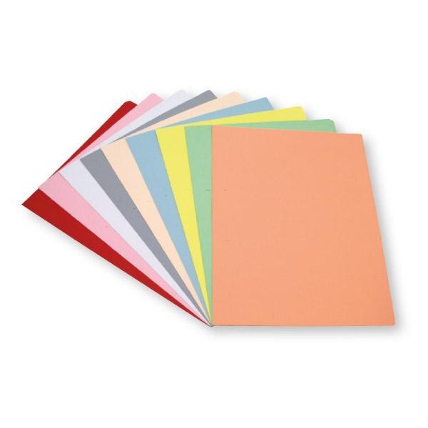 Dequa Pack 50 subcarpetas Dequa cartulina folio 180g colores pastel rojo