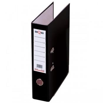 Archivador con rado cartón Dequa folio 70mm negro