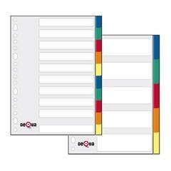DEQUA Separador multitaladro folio pp 5posiciones (colores)