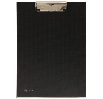 Portabloc forrado con pinza y refuerzo metálico color negro