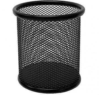 Cubilete metálico de rejilla color negro