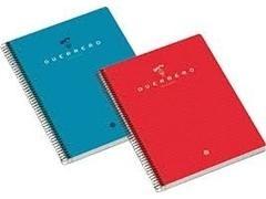 Cuaderno tapa dura guerrero 03 microperforado A4 160h cuadricula 5 rojo