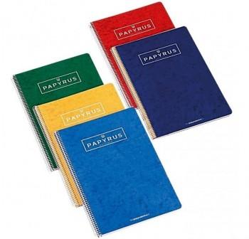 Pack 5 Cuadernos papyrus 03 folio80h pautado 2,5 colores surtidos