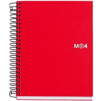 Cuaderno microperforado note book-6 basic A4 150h rojo Miquel Rius