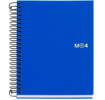 Cuaderno microperforado note book-6 basic A5 cuadrícula 5x5 150h azul