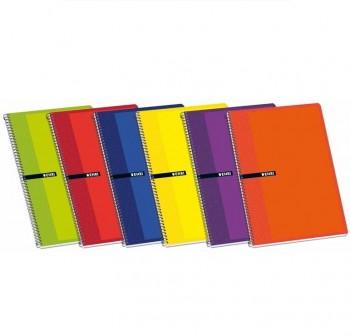 Pack 5 Cuadernos folio 80h enri rayado horizontal colores surtidos