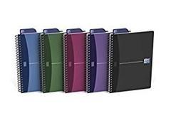 OXFORD Cuadernos espiral tapas plástico opaco A5 cuadrícula 5x5 90h colores surtidos