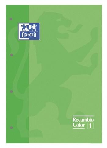 Recambio Oxford color tapas blandas A4+  80 5x5 verde
