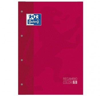 Recambio Oxford color tapas blandas A4+  80 5x5 lila