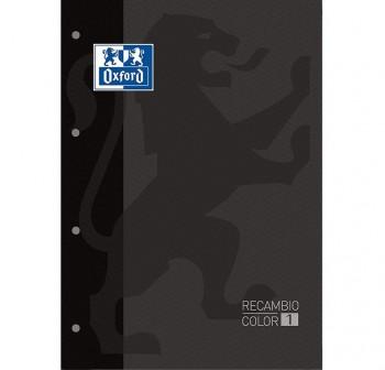 Recambio Oxford color tapas blandas A4+  80 5x5 gris