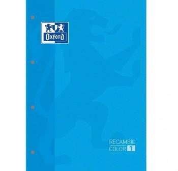 Recambio Oxford color tapas blandas A4+  80 5x5 Turquesa