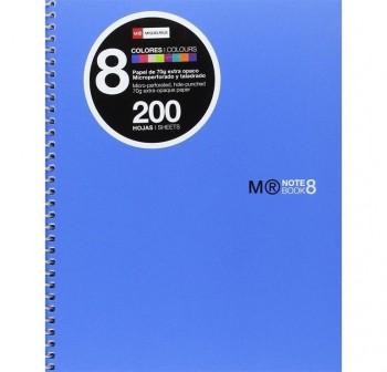 Cuaderno Miquel Rius microperforado Note Book-8 polipropileno A5 cuadrícula 5x5 200h 70 g/m2 azul