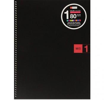 Cuaderno Miquel Rius microperforado Note Book1 A4 cuadrícula 5x5 80h 90 g/m2 rojo