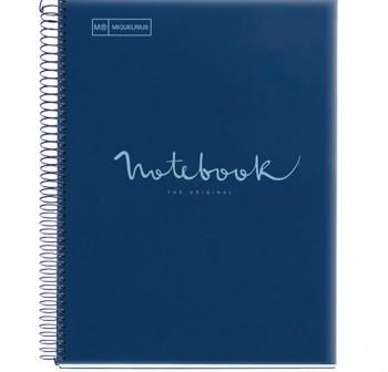 Cuaderno Miquel Rius espiral note book A4 120h 70gr/m2  cuadrícula 5x5 mm azul oscuro