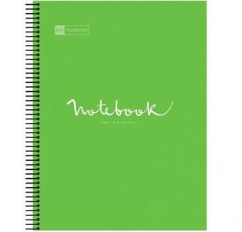 Cuaderno Miquel Rius espiral note book A4 120h 70gr/m2  cuadrícula 5x5 mm verde manzana