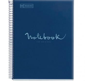 Cuaderno Miquel Rius espiral note book A5 120h 70gr/m2  cuadrícula 5x5 mm azul oscuro