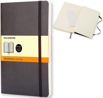 Moleskine Cuaderno clásico tapa blanda negra p rayas
