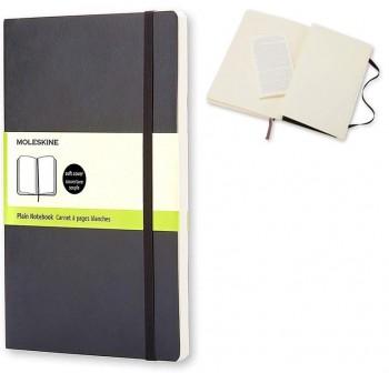 Moleskine Cuaderno clásico tapa blanda negra l lisa