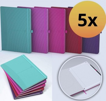 Oxford Libreta Signature tapas flexibles A5 80h 1 línea colores surtidos Classic