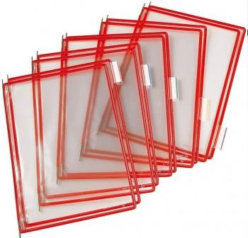 Tarifold Pack 10 fundas con pivotes A4 rojo