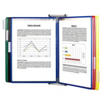 Tarifold Clasificador de pared con 10 fundas de colores + 5 índices-separadores