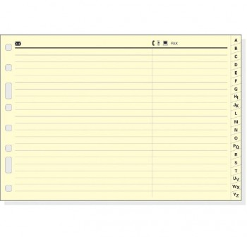 Indice alfabético cartón Multifin 4º apaisado blanco