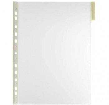 Caja 5 fundas clasificadores a4 transparente marco amarillo
