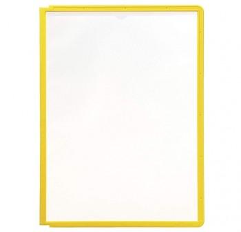 Caja 5 fundas clasificadores Sherpa a4 transparentes marco amarillo