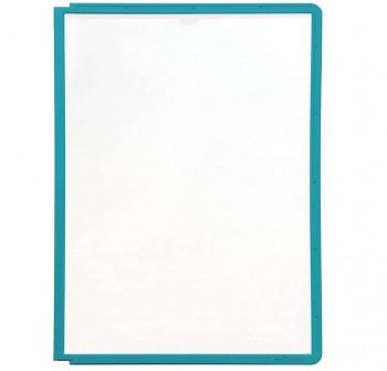 Caja 5 fundas clasificadores Sherpa a4 transparentes marco verde