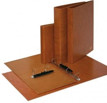 Carpeta 2 anillas 25mm folio cartón cuero