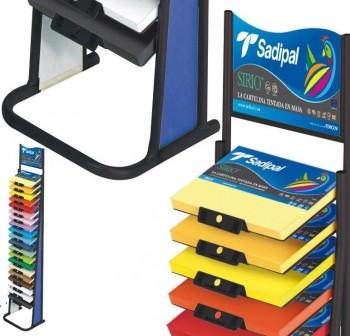SADIPAL Expositor de paquetes de cartulinas en A4 20 colores