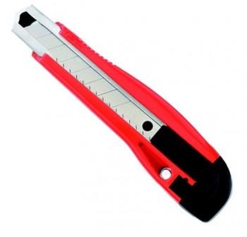 Cutter premium ancho 18mm cuerpo de plástico y guía de metal