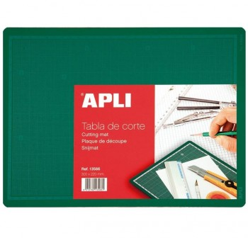 Tabla de corte 300x220x2mm PVC (A4) verde