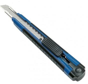 Cutter mediano, azul, cuchilla 9 mm bloqueable, incluye 2 cuchillas de repuesto