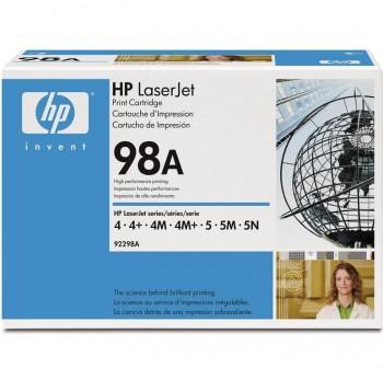 HP Toner laser 92298A negro original