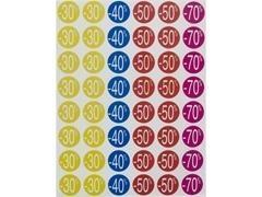 APLI Bolsa de etiquetas descuento -20/-50% diametro 24mm 5hojas