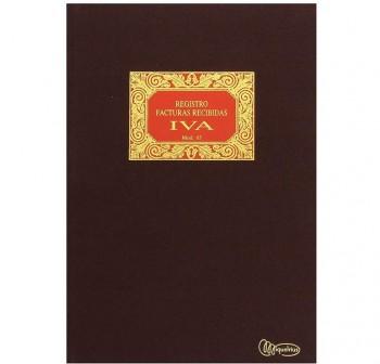 Cuaderno cartóne contabilidad mod65 facturas recibidas iva folio 50h