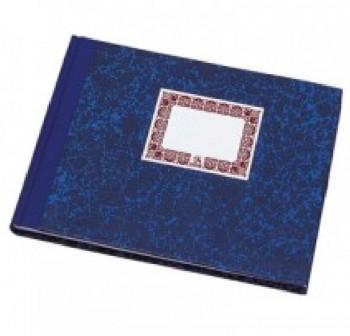 Cartoné rayado horizontal 100h cuarto apaisado azul
