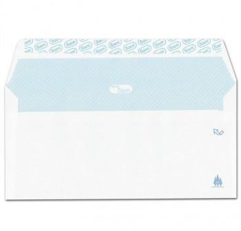 Caja 500 sobres DL 110x220 mm tira silicona 90grs blanco