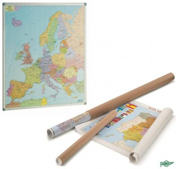 Mapa Faibo de Europa enrollado en tubo de cartón 93x119 cm