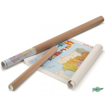 Mapa Faibo Mundi enrollado en tubo de cartón 84x140 cm