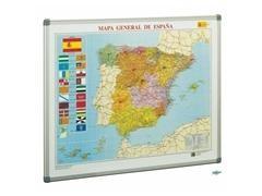 Mapa Faibo de España magnético fondo metálico 72x93 cm