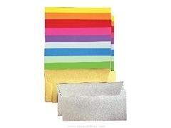 Paquete 20 sobres de colores Pollen Clairfontaine 120gr. 11x22 cm dorado