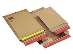 Pack 20 bolsas cartón extra rígido 270x185x50mm (B5+)
