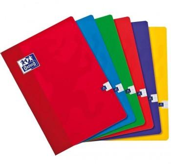 Libreta grapada A4 48h rayado horizontal con margen colores surtidos