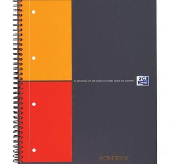 Cuaderno microperforado activebook tapas plástico A4+ con bandas Oxford 80h