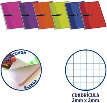 ENRI Cuaderno tapa carton 80 hojas cuarto c-3mm