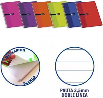 ENRI Cuaderno tapa carton 80 hojas cuarto pauta  3mm